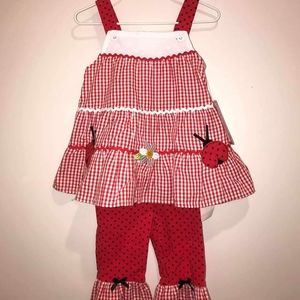 Nannette Lady Bug Set NWT 18M